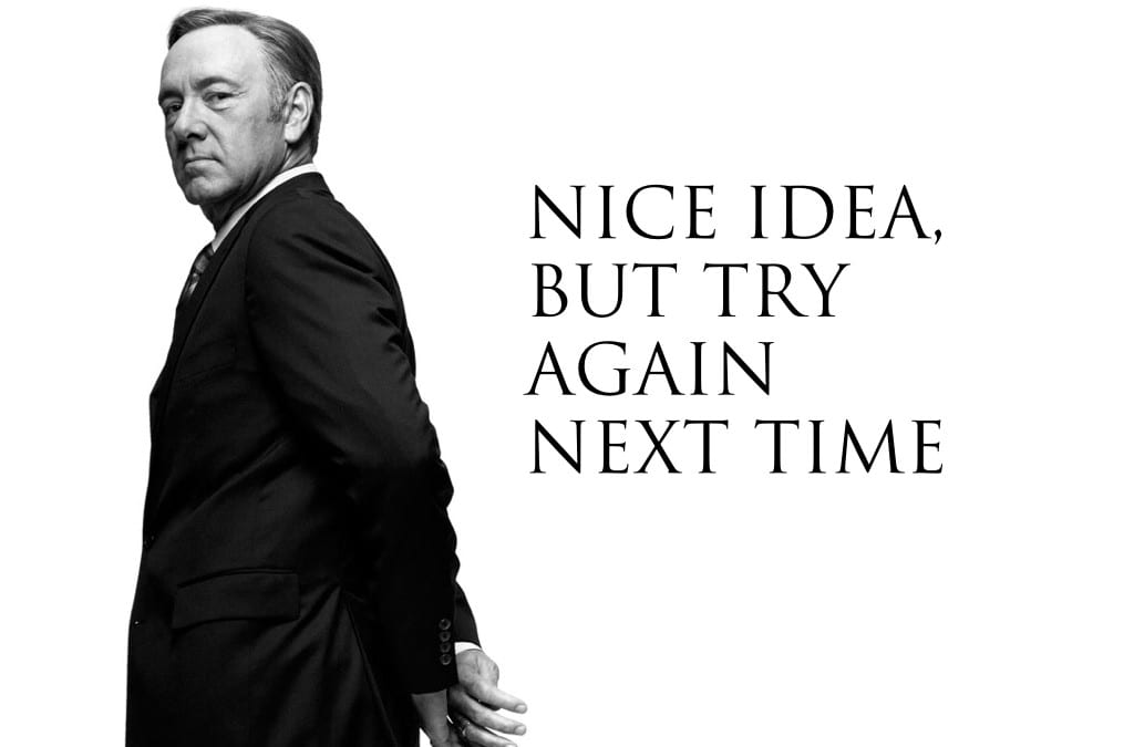 The House of Cards Reality for Innovation Projects