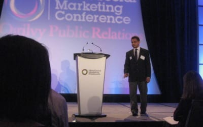 Shiraz Latiff speaks at the World Social Marketing Conference in Canada