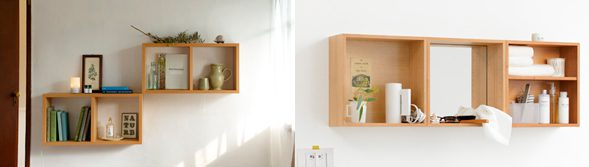 MUJI storage which can be mounted according to people's needs.