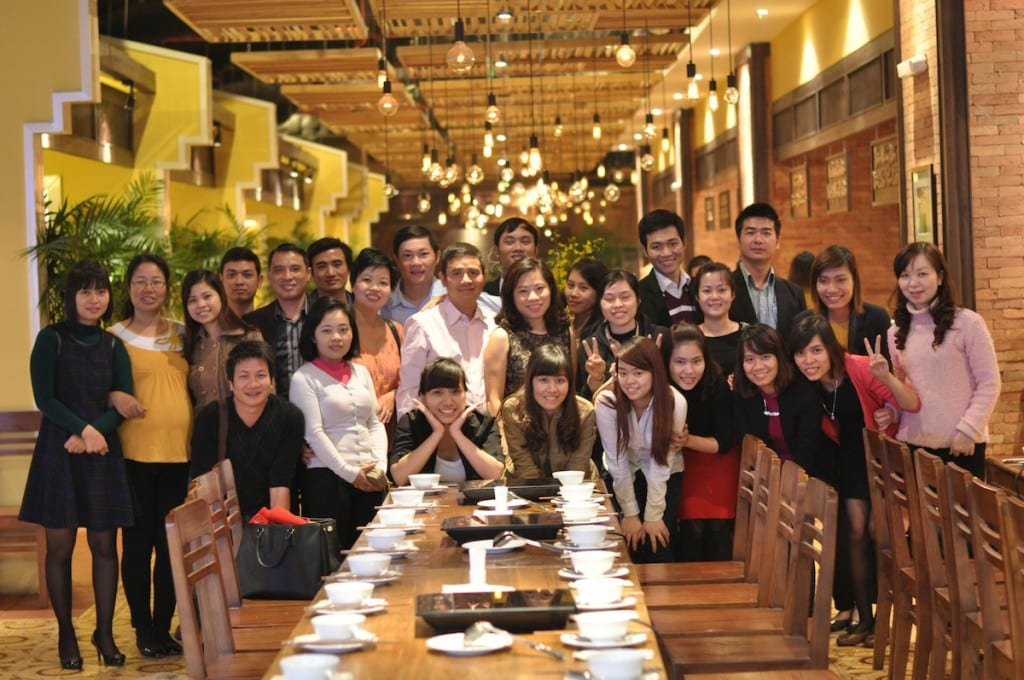 Ms Hanh with employees from Phuc Hung Thinh Company. Photo source: Phuc Hung Thinh.