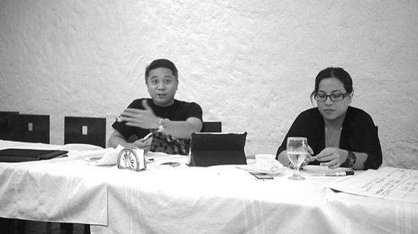 """Francis Mabilog (left), CEO at Wizard of Ads, a complete below-the-line advertising agency, explaining how he learned """"the correct thought process on how to analyse problems (our) company is currently facing and come up with the appropriate solutions."""""""