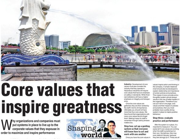 Core Values that inspire Greatness