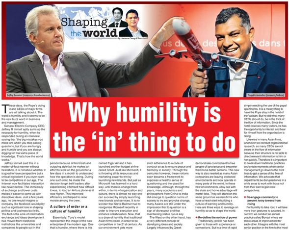 Humility is 'in'