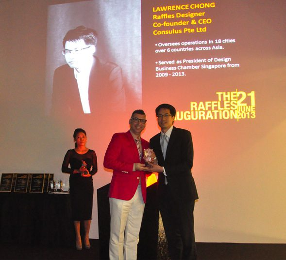 Lawrence Chong presented with 'Special Achievement Award' from Raffles College of Higher Education