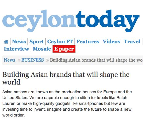 Building Asian brands that will shape the world