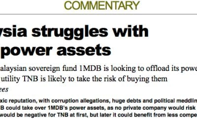 Malaysia struggles with toxic power assets – Consulus comments on 1MDB case