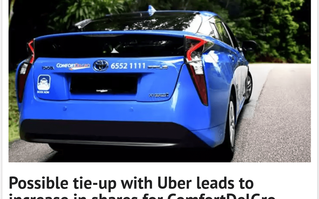 Possible tie-up with Uber leads to increase in shares for ComfortDelGro: Consulus Comments on Marketing Interactive