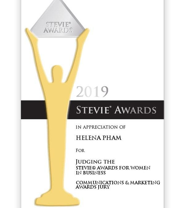 Helena Pham recognised by the Stevie Awards