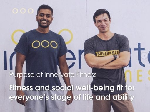 Innervate: Fitness and social well-being Fit for all ages and stages of life